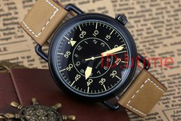 Wholesale Day Pvd - Luxury Sports Watch New Mens Stainless Steel Automatic Mechanical Black Rubber Bell PVD dive MALE Watches Red Dial Relogio Masculino