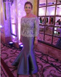 Wholesale Dresses Bride Taffeta - Elegant Silver Mother of The Bride Dresses for Weddings Zipper Lace Crystal Plus Size Wedding Gust Evening Dress for women Evening Dress