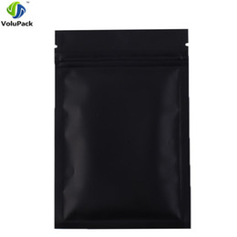Wholesale Black Ziplock Bags - Fast shipping 12x18CM, 100PCS Black aluminum foil zip lock bag barrier resealable food candy packaging ziplock bags