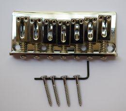 гитара гайка долбежные Скидка Электрическая гитара 7 частей струнной гитары мост ж / седло винт гаечный ключ 3 комплект