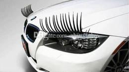 Wholesale Fashion Car Diamond Stickers - 2pcs 1pair lot Personalized Electric Eye Car Stickers With Diamonds New Brand Cool Fashion Auto 3D Eyelash Automotive Eyelashes Car Eye L