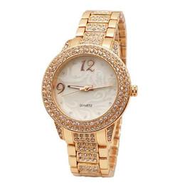 Wholesale Full Mens Watches - Luxury Women's Michael Quartz Watches Rhinestone Diamond inlay Imitation Conch Dial Mens Women Quartz Full Steel Watches wholesale