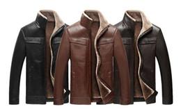 Wholesale Jaqueta Nylon Masculina - New arrival Men leather jackets Winter thicken Fleece PU leather jackets casual coats jaqueta de couro masculina Big Size 4XL