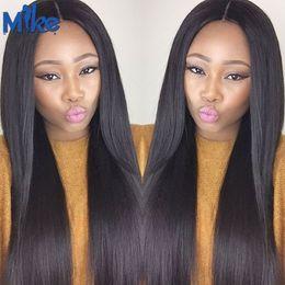 Wholesale Brazilian Hair Supplies - MikeHAIR Wholesale Human Hair Weave 4 Bundles Brazilian Straight Hair Extensions Factory Supply Peruvian Indian Malaysian Human Hair Bundles
