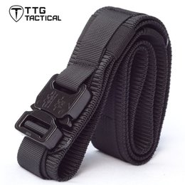 Wholesale Airsoft Molle - MOLLE Tactical Gun Belts with Cobra Buckle Molle Operator Belt Tactical Waist Belt Airsoft Rigger Strap