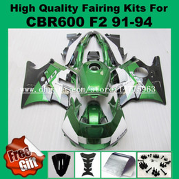 Wholesale Cover Honda Cbr - Tank cover + fairings set For HONDA CBR600 F2 91 92 93 94 CBR600RR CBR 600F2 600 F2 CBR600 F2 1991 1992 1993 1994 Fairing Green black 9gifts