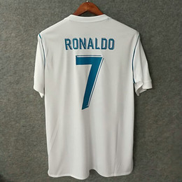 Wholesale Real Big - Perfect 17 18 real madrid home soccer jerseys big size XXL XXXL 4XL custom name number ronaldo 7 bale football shirts AAA quality 2016 cup