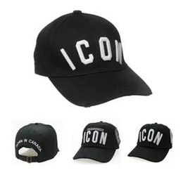 Wholesale Top Trucker Hats - Cheap Wholesale European brands are exquisite and embroidered bone baseball caps with the men's fashion shades and trucker hat top color DSQ