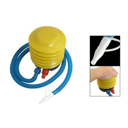 Wholesale Wholesale Swimming Pool Pumps - Wholesale-Super sell Foot Air Pump Inflator for Swimming Ring Balloon Yoga Ball Inflatable Portable
