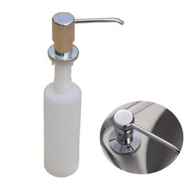 Wholesale Clothes Brush Plastic - 300ml Kitchen Sink Liquid detergent Shampoo Soap Dispenser Brushed Nickel Head ABS Bottle DJ0213