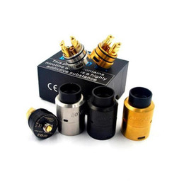 Wholesale Built Fit - Vaporizer GOVAD RDA Atomizer 1.5ml Spring loaded clamp style build deck X-Centric Airflow Fit 510 E Cigarette DHL Free