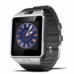 Wholesale Multifunction Gps - DZ09 Bluetooth Smart Watch smart watch GSM SIM Card For Android iphone multifunction wearable fashion and new