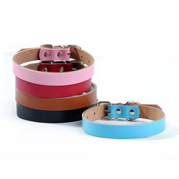 Wholesale Pitbull Dogs Pets - Studded Adjustable PitBull Genuine Leather Pet Puppy Dog Collar and Leash Neck Strap Shipping Free 170312
