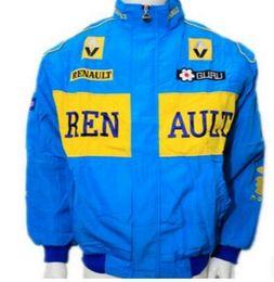 Wholesale Motorcycle Racing Suit Jacket - F1 racing suit, Ford 2 car overalls, motorcycle racing suit, motorcycle jacket, full embroidered cotton padded jacket