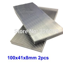 Wholesale Extruded Aluminum Heatsink - Wholesale- 2pcs 100x41x8mm Extruded Aluminum heatsink IC Chip VGA Memory Routers Northbridge Southbridge CMOS radiator