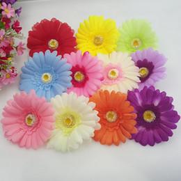 10 cm de Seda Grande Gerbera Artificial Cabeza de Flor Para La Boda Decoración Del Coche DIY Guirnalda Decorativa Floristería Flores G625 desde fabricantes