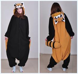 Wholesale Racoon Adult Costume - high quality Kigurumi Pajamas Racoon animal cosplay costume Adult Unisex onesies party dress Halloween pyjamas sleepwear jumpsuit