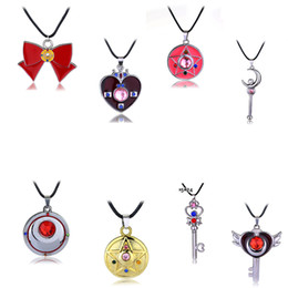 Wholesale Hot Pink Statement Necklaces - Wholesale-Free Shipping For 1 Pcs Bohemia Style Cartoon Sailor Moon Crystal Star Enamel Statement Necklace Women Pink Pendant Necklace Hot