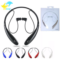 Wholesale Boxes For Iphone - HBS 800 Bluetooth Headset Headphone Earphone hbs 800 Stereo Wireless Neckbands for iphone 6 6s 6Plus 7 plus without logo With Retail Box