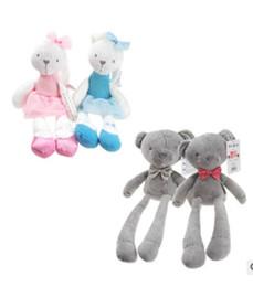 Wholesale Rabbit Stuffed Toy For Babies - Baby Toys Cute Rabbit Sleeping Comfort Stuffed Doll Cartoon Bunny Teddy bear Plush Animals Hot Toys For Baby Gifts XT