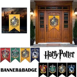 Wholesale Harry Potter Wall - Harry Potter Banners Flag Gryffindor Flag Hogwarts College party Flag 75x125cm house wall decoration Banner Flags KKA2166
