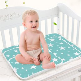 Wholesale Infant Reusable Diapers - Baby Portable Foldable Washable Changing mat Infants cute waterproof mattress children game Floor mats cushion Reusable Diaper