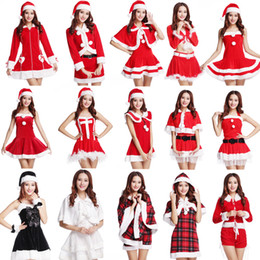 Wholesale Shirred Dress Straps - New Hot Popular Red Strap Christmas Christmas Party Dress Dress Uniform Temptation Ds Stage Performance Show