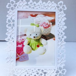 Wholesale Photography Ornament - 7 inch Clover modeling picture frame wall creative simple frame ornaments photo frames for children wedding photography room home decoration