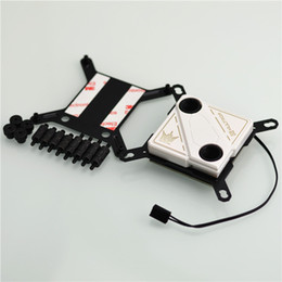 Wholesale Micro Computer Case - Wholesale- CPU water cooling block 60X60mm micro channel design for I NTEL 115X.