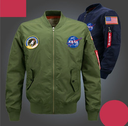 Wholesale Men Wet Shorts - Spring 2017 men's air force one baseball jacket collar plus-size leisure army men's flight suit wet coat