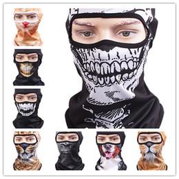 Wholesale Motorcycle Mask Dhl - DHL free shipping 3D Cap Dog Animals Outdoor Sports Bicycle Cycling Motorcycle Masks Ski Hood Hat Veil Balaclava UV Full Face Mask
