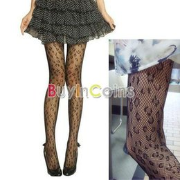 Wholesale Pantyhose Leopard - Wholesale- Fashion Women Soft Leopard Net Pattern Jacquard Sexy Tights Pantyhose Stockings #10797