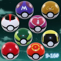 Wholesale Sports Action Figure - HOTTEST 16 style Cute Pokémon Poke Ball Pokeball Mini Model Classic Anime Pikachu Super Master Pokémon Ball Action Figures Toys 8 pcs 1 set