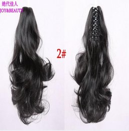 Wholesale claw clip hair pieces - Wholesale- HOT!! 2016 high quality New Long 30cm Ponytail Hairpiece Long Curly Claw Clip in on Hair Piece Extension free shipping