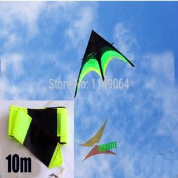 Wholesale Large Nylon Kite - Wholesale- free shipping high quality large delta kite prairie kite toys with10m tails handle line outdoor flying hcxkite rod ripstop wei