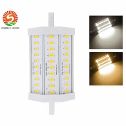 Wholesale Dimmable Led Floodlights - Dimmable 12W 15W LED R7S Light Bulb 118mm SMD 5730 Lampada 110-240V Candle Luz Floodlight Lamps Crystal LED Bulbs Ampoule