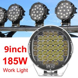 Wholesale Hid Offroad Flood Lights - 9 Inch 185W 6000K Work Driving Lights Spot   Flood light HID Vehicle Driving Lights for Offroad SUV ATV Truck Boat CLT_43D