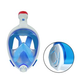 Wholesale Underwater Equipment - Wholesale- Hotsale Underwater Full Face easy breath 180 degree wide view Diving Snorkel Mask Anti Fog Swimming Training Breathing Equipment
