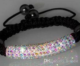 Wholesale 1mm Tube - HOTsale!52% Discount !Fashion ! 5*1mm dtrt3 AB Shamballa Tube Bracelet Disco Ball Pave Crystal Women Bracelet jewelry u3535 x82