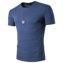 Wholesale Elegant Men S Shirts - High quality elegant 2017 new style hot selling casual fashion multicolor linen slim men's round neck short sleeve T shirt for Summmer
