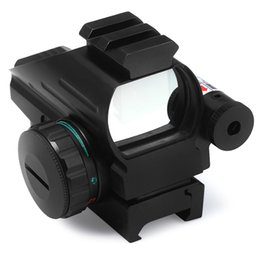 Wholesale Green Dot Lasers - Holographic Laser Sight Scope Reflex 4 Red Green Dot Reticle Picatinny Rail 33mm for AR Rifle 12ga Airsoft Hunting + B