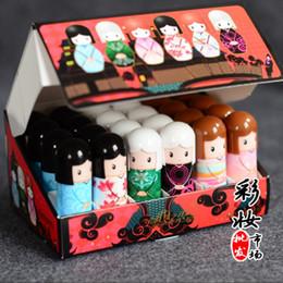 Wholesale Doll Balm - 1440pcs = 60 boxes Cute Lipbalm Makeup Kawaii Baby Lips Balm Kimono Doll Lip Balm Natural Plant Nutritious Lips Care Moisturizing
