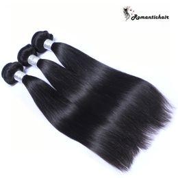 18 polegadas de cabelo malaysian on-line-9A Grau Virgem Cabelo Liso Brasileira Peruano Malaio Indiano Feixes de Cabelo Natural Cor Extensões de Cabelo Humano 8-30 polegada tramas Duplas