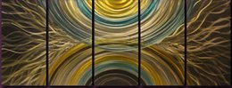 Настройки линии онлайн-Алюминий Металл Абстрактные 3D Wall Art Lines Дизайн для современного и современного декора Отлично подходит для внутреннего и наружного