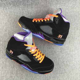 Wholesale Rivet Boot Black - Wholesale high quality air retro 5 mans basketball Shoes Olympic Metallic Gold Tongue Sneakers Boots good quatily free shipping