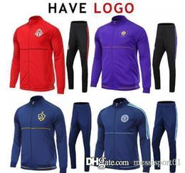 Wholesale Galaxy Suit - 17- 18 MLS Soccer Jacket Suit Toronto La Galaxy New York City Orlando Track Suit Jogging Football Tops Coat Pants Adults Training Tracksuit