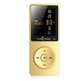 ультратонкий mp3-плеер Скидка Wholesale- 2017 New Arrive Ultrathin Original IQQ X02 8GB MP3 Player With 1.8 Inch Screen Can Play 80 hours With FM  Clock Data Gold