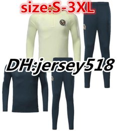 Wholesale Men Training Jacket - Top quality 17 18 America survetement jacket soccer Jersey Romero Goltz Miky A Peralta Romero Aguilar tracksuits Training suit