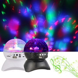 Wholesale Wireless Dj Speakers - Rotating Magic Ball speaker Light with Wireless Bluetooth Speaker Mini Card Slot Rotating For KTV Xmas Party Club Pub Disco DJ