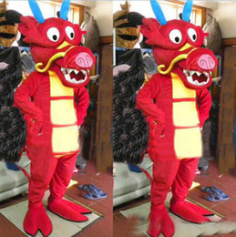 Wholesale Dragon King Movie - 2017 new hot sale Lovely Red China North Sea King Dragon Mascot Cartoon Costume Hallowmas Party Fancy Dress